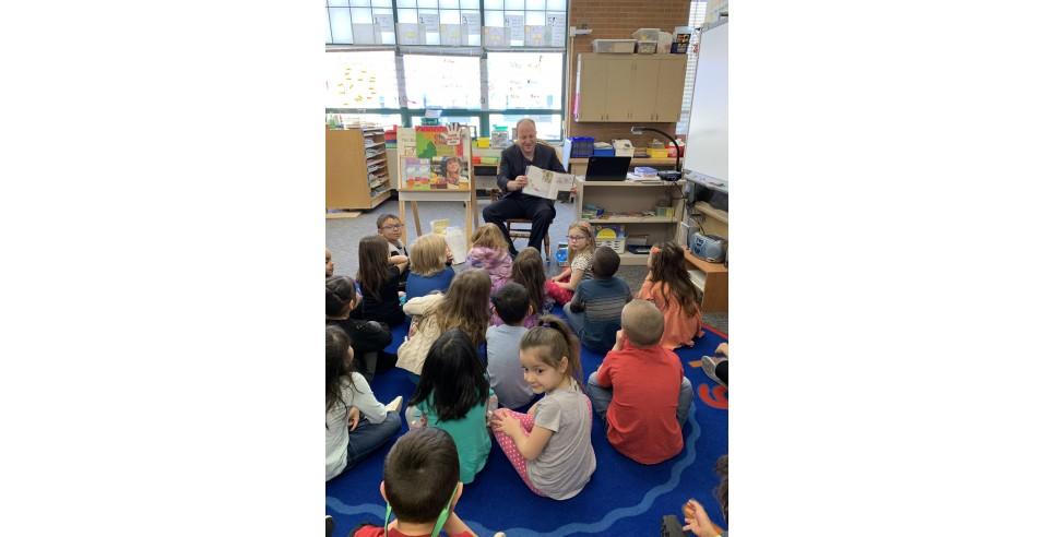 Governor Jared Polis in a Kindergarten Class