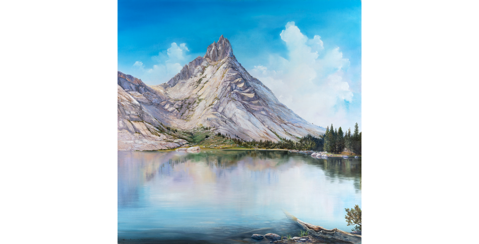 Young Lake Painting by Rebecca Holland