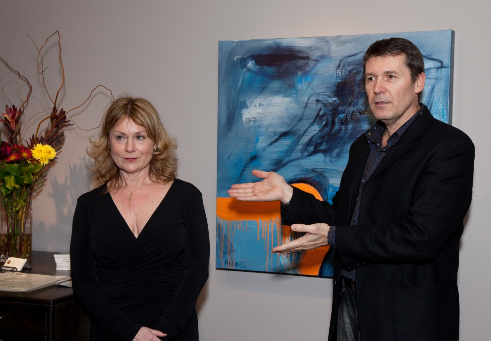 Patricia Vaccarino and Artist Milan Heger