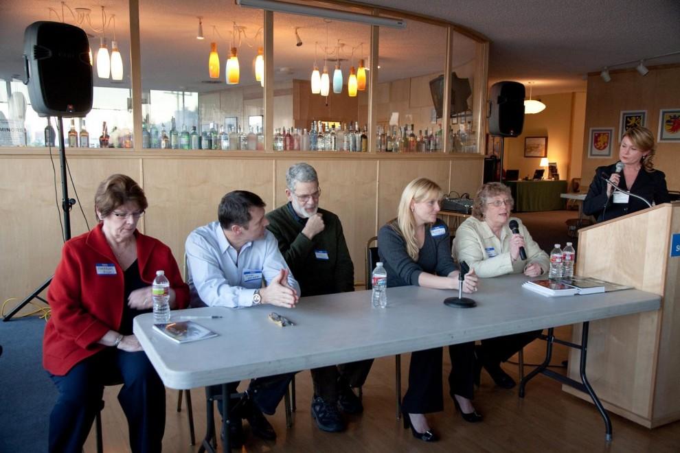 Panel, left to right: Lorraine Howell, Milan Heger, Dexter Chapin, Kristin Morris, Sheryn Hara